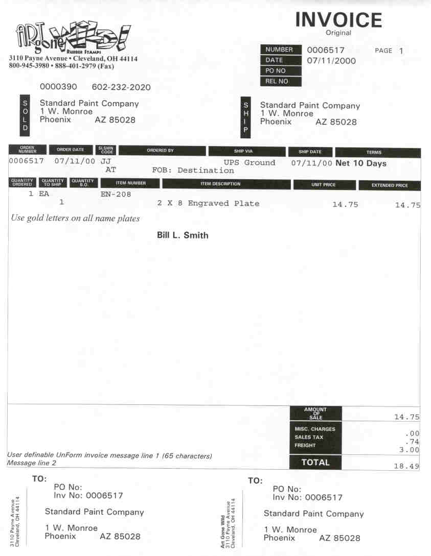 OE Invoice 2 Copy 1 Mindware – Copy of an Invoice Template